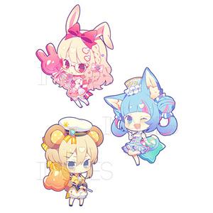 candy girls アクリルキーホルダー 全3種