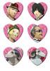 キャサリン・フルボディ ハート型キラ缶バッジ 全12種