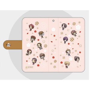 【Mサイズ】オトメイトガーデンコラボイラスト 手帳型スマートフォンカバー2018 薄桜鬼