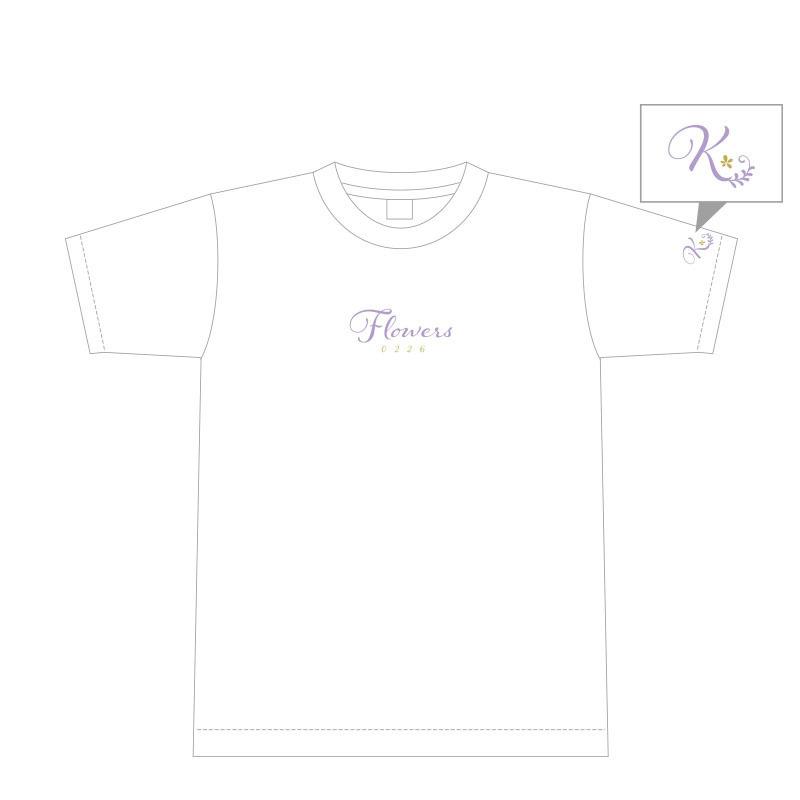 織田かおり Flowers Tシャツ