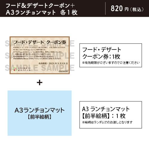 【販売終了】オトメイトガーデン フード・デザートクーポン(Cendrillon palikA 第一弾(前半))※有効期限:2021年6月30日
